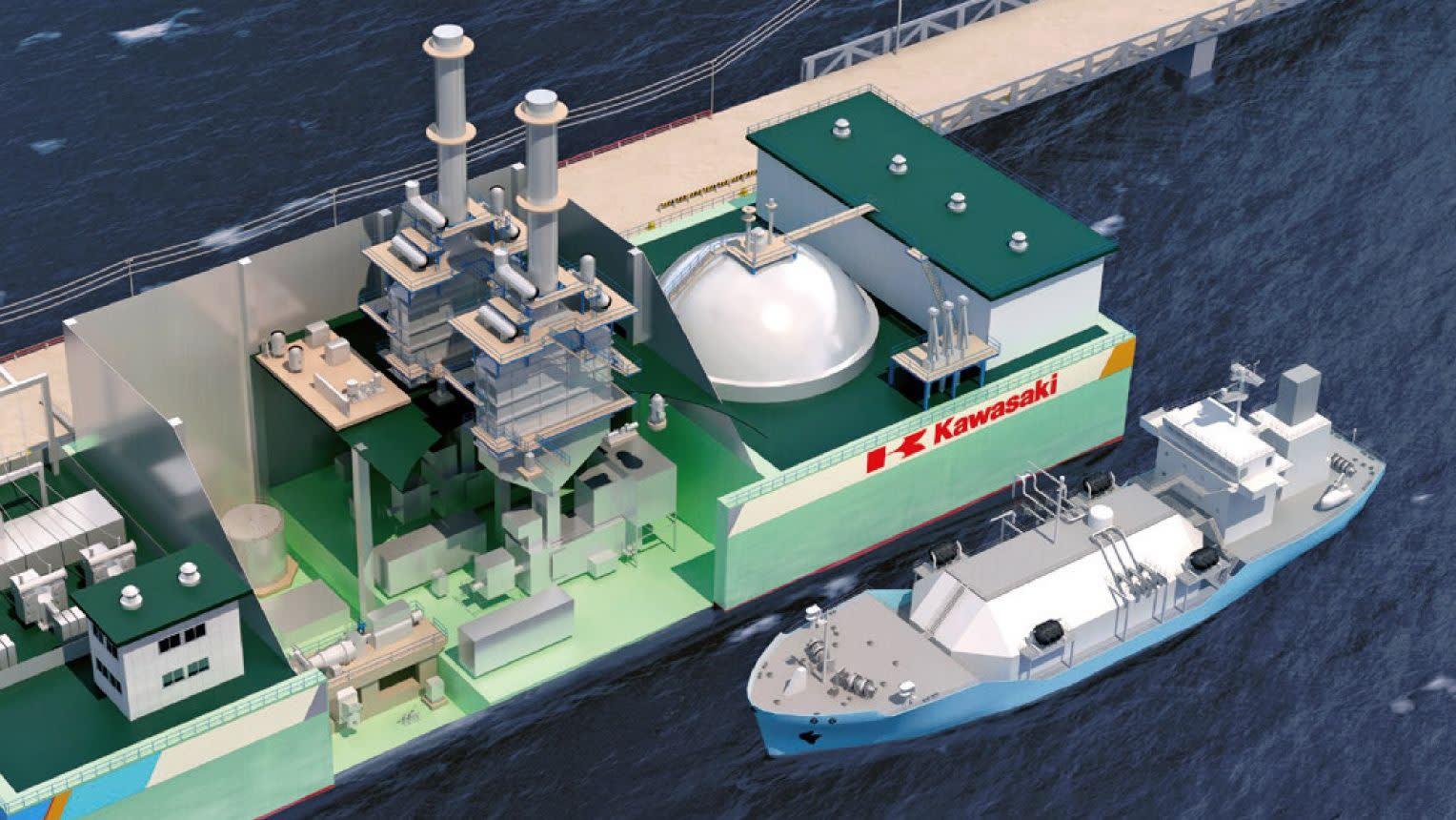 توسعه نیروگاه شناور توسط شرکت کاوازاکی