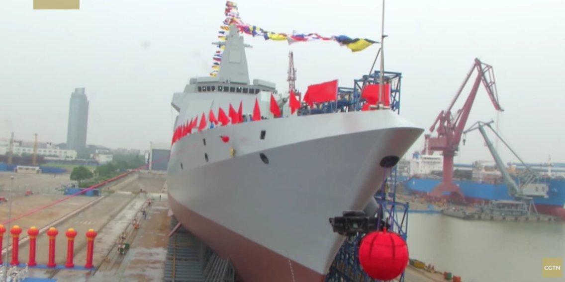 ادعای چین در جهت پیشرفت دریایی و تولید کشتیهای جنگی در سطح آمریکا