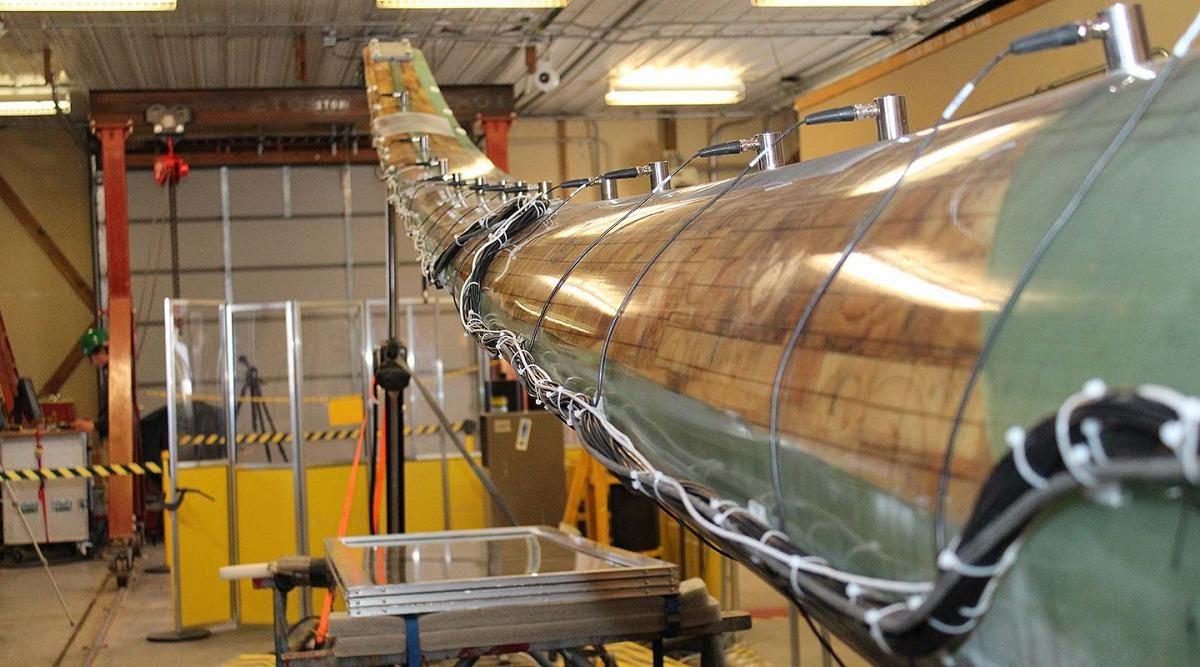 تست پره توربین باد در آزمایشگاه انرژیهای تجدید پذیر ملی آمریکا