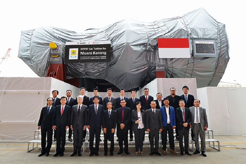 آماده سازی نهایی توربین گاز میتسوبیشی برای ارسال به نیروگاه اندونزی