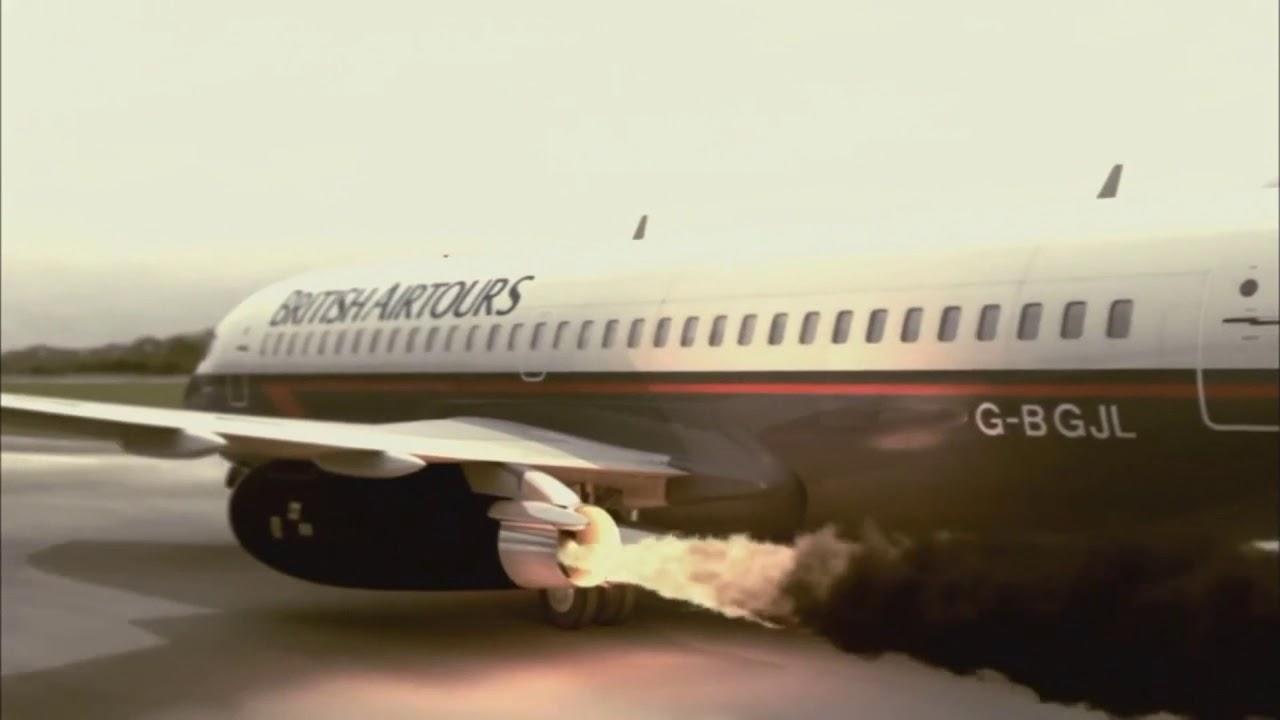 نقص فنی در محفظه احتراق موتور و آتش سوزی بوئینگ 737 انگلیس [فیلم]