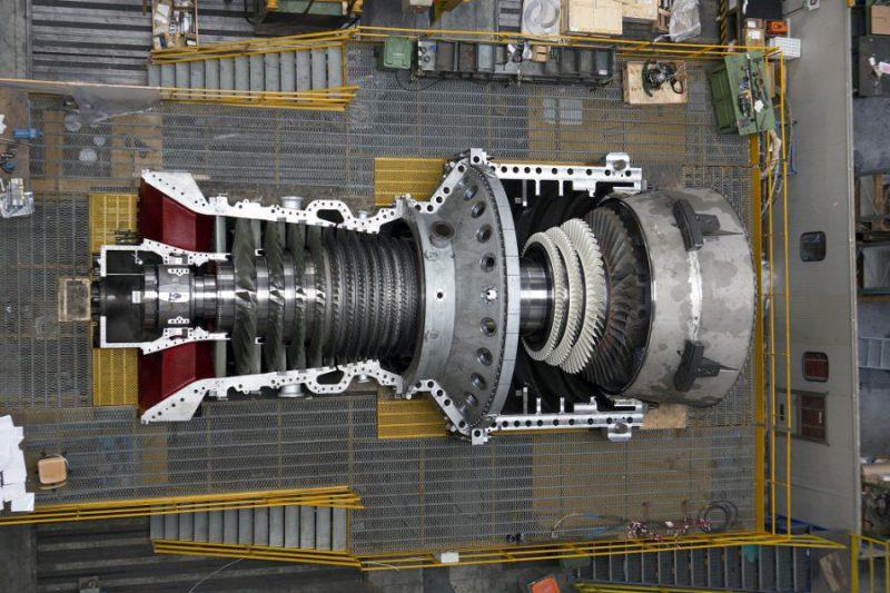 نصب توربین گاز آنسالدو در نیروگاه آلمانی