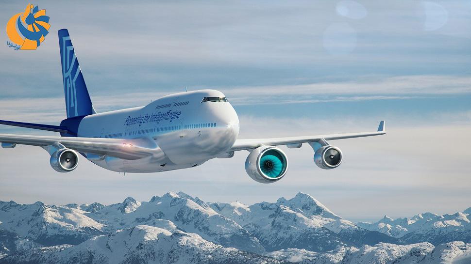 تجهیز یک فروند بوئینگ 747 توسط رولزرویس برای آزمایش هواپایه موتورهای توربوفن