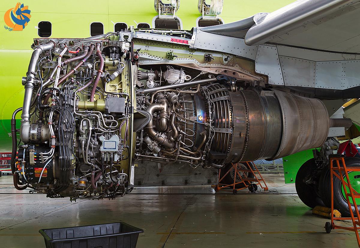 نمایی از موتور CFM56 آماده برای تعمیر