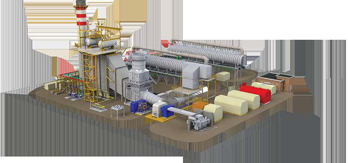 طرحی از نیروگاه تولید همزمان برق و آب مپنا