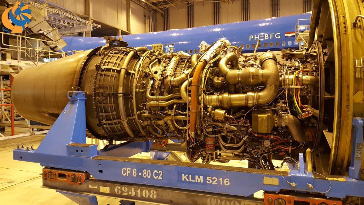 تعویض موتور CF6-80C2 جمبوجت
