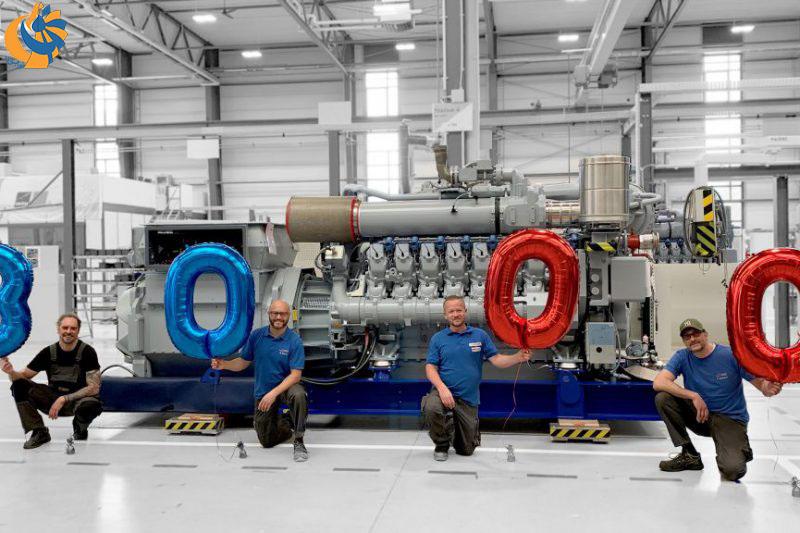 نقطه عطف مهم برای موتور گازسوز سری 4000 MTU