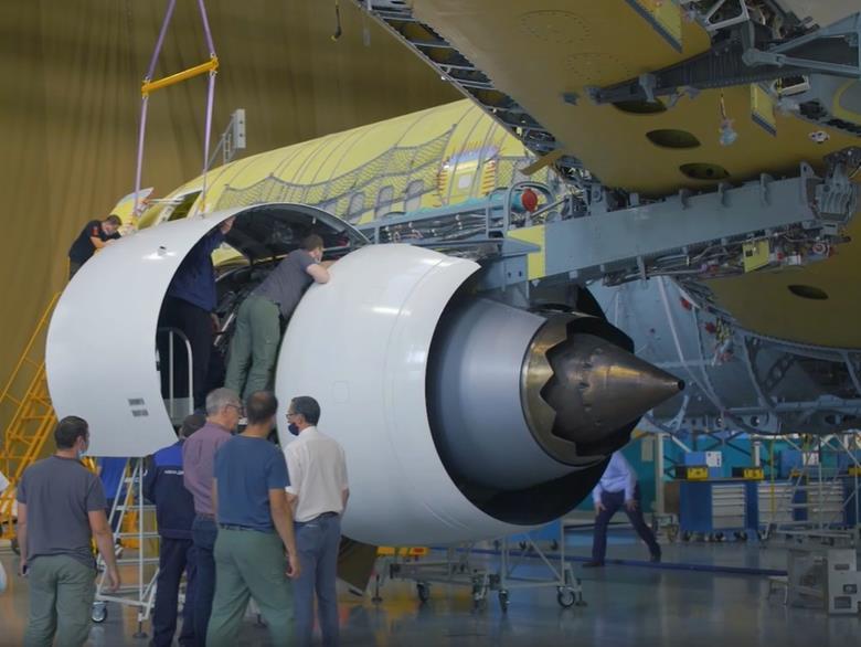 آزمایش نصب موتور PD-14 بر روی جت مسافربری بومی جدید روسیه