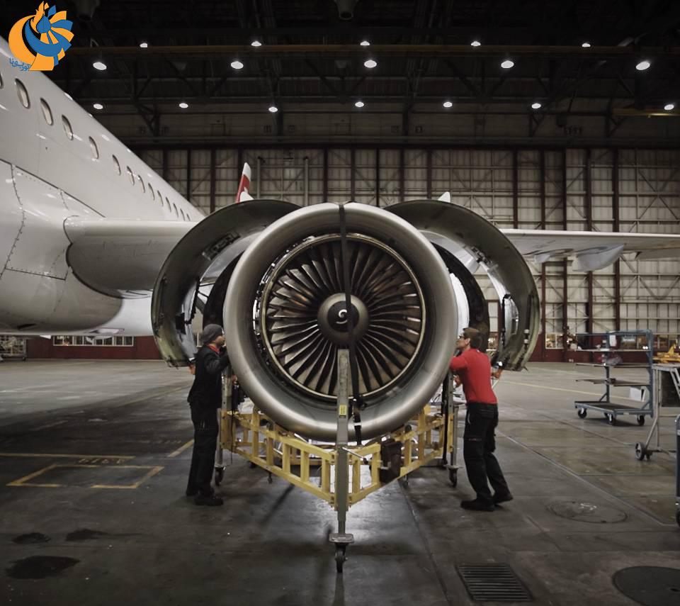 بازسازی موتورهای هوایی در مرکز تعمیر و نگهداری سوئیسایر [فیلم]