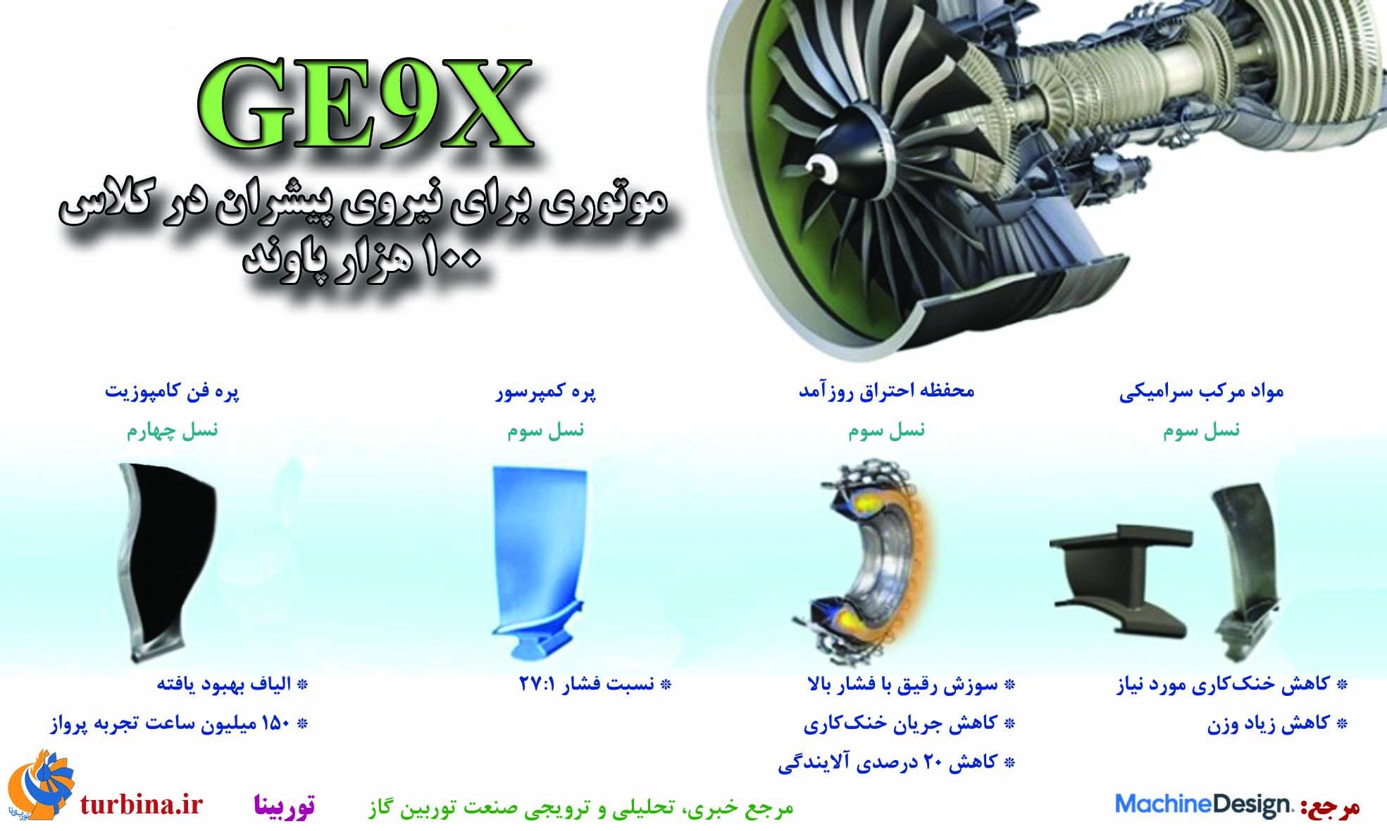 GE9X موتوری برای نیروی پیشران در کلاس 100 هزار پاوند