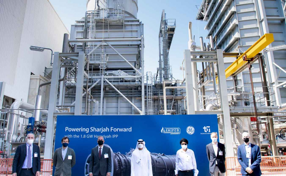 راهاندازی توربین گاز نیروگاه جدید شارجه