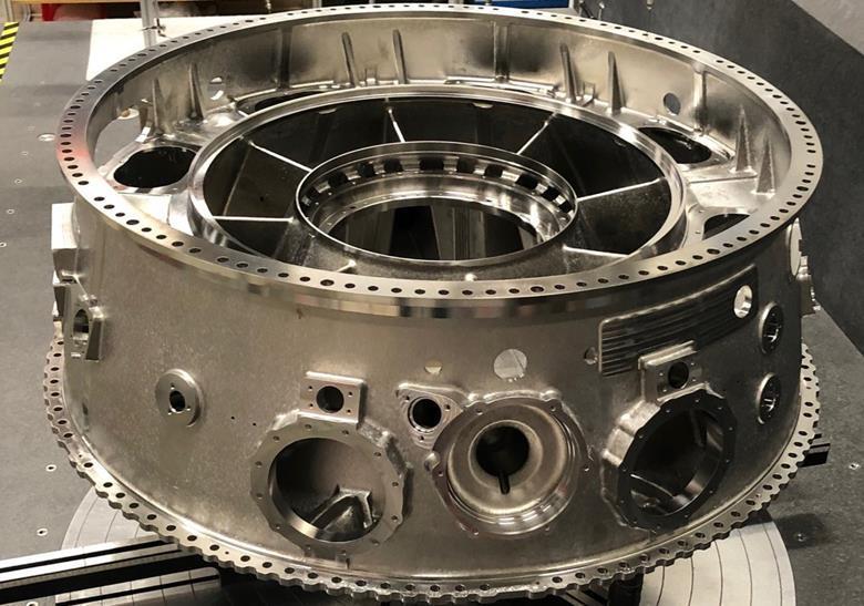 پوسته کمپرسور میانی موتور اولترافن به خط تولید رولز رویس رسید